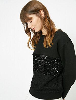Koton Kadın Pul Detaylı Sweatshirt