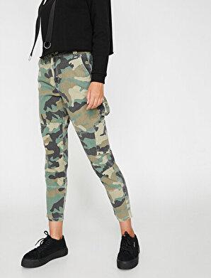 Koton Kadın Kamuflaj Desenli Pantolon