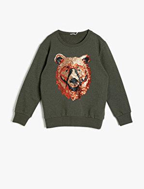 Koton Erkek Çocuk Pul Detaylı Sweatshirt