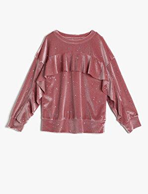 Koton Kız Çocuk Firfir Detaylı Sweatshirt
