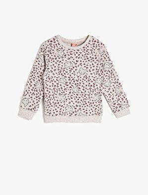 Koton Kız Çocuk Leopar Desenli Sweatshirt