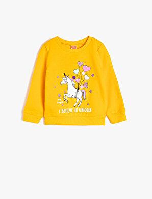 Koton Kız Çocuk Sim Detaylı Sweatshirt
