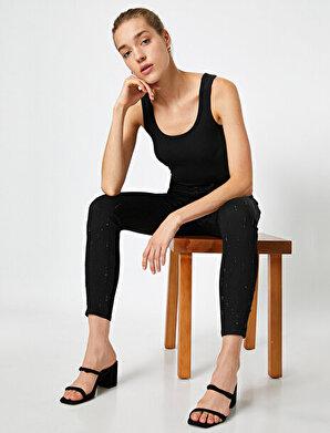 Koton Kadın Tas Detaylı Pantolon