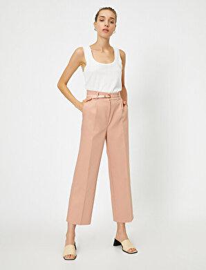 Koton Kadın Kemerli Cepli Pantolon