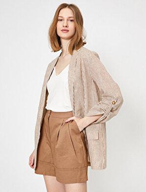 Koton Kadın Çizgili Ceket