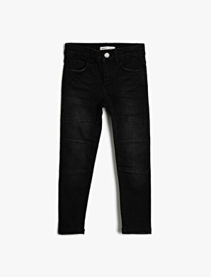 Koton Erkek Çocuk 5 Cep Dizleri Dikisli Slim Dar Paça Jean Pantalon