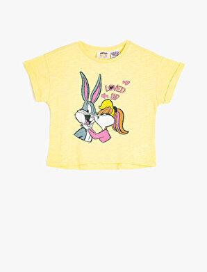 Koton Kız Çocuk Warner Bros Lisansli Kisa Kollu Bugs Bunny Baskili Tisört