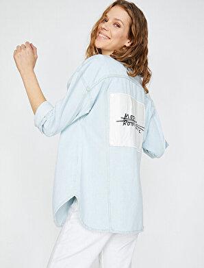 Koton Kadın Islemeli Jean Ceket