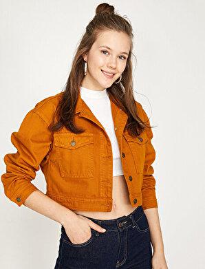 Koton Kadın Klasik Yaka Jean Ceket