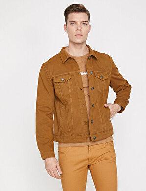 Koton Erkek Klasik Yaka Jean Ceket
