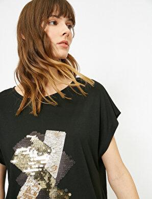 Koton Kadın Pul Detaylı T-Shirt