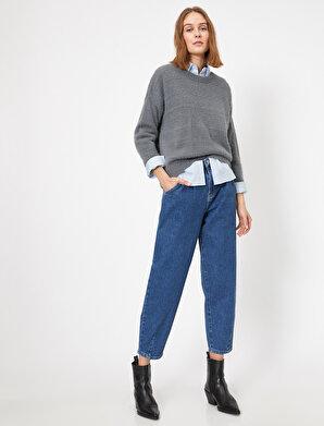 Koton Kadın Cep Detaylı Jean Pantolon