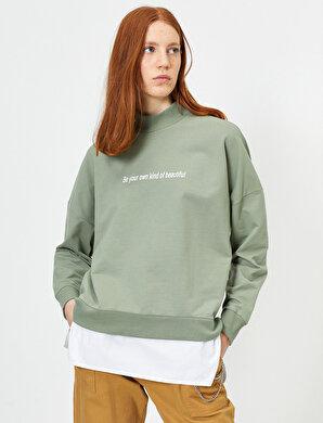 Koton Kadın Yazili Baskili Sweatshirt