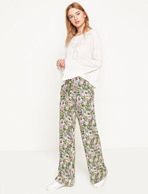 Koton Kadın Çiçekli Pantolon
