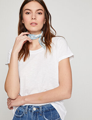Koton Kadın Oyuk Yaka T-Shirt