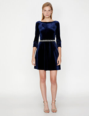 Koton Kadın İnci Detaylı Elbise