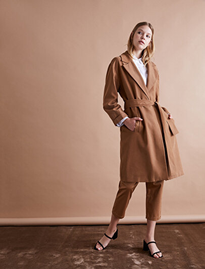 Belt Detailed Trenchcoat