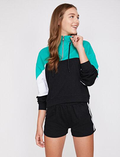 Fermuar Detaylı Sweatshirt