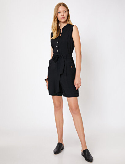 Button Detailed Jumpsuits