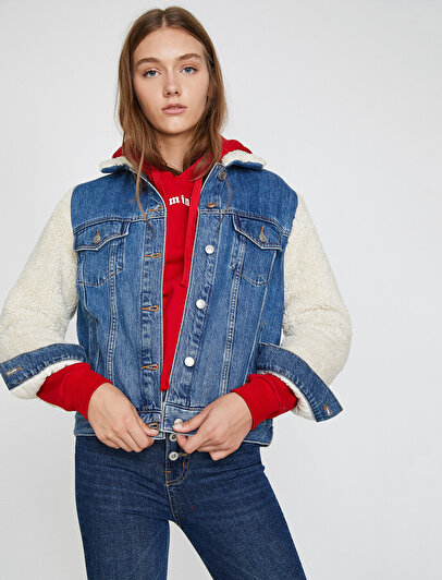 Faur Fux Detailed Jean Jacket