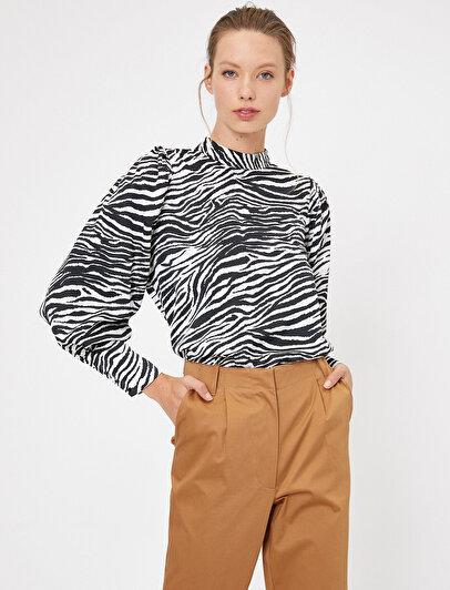 Zebra Desenli Bluz