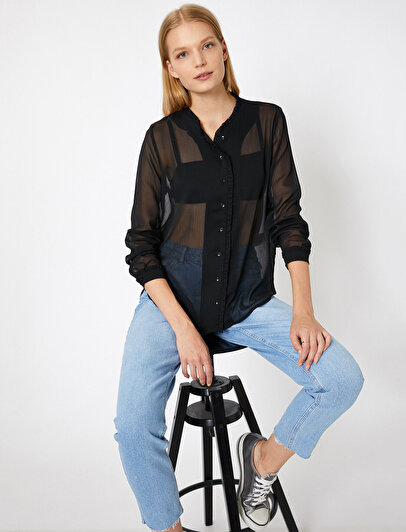 Tulle Detailed Shirt