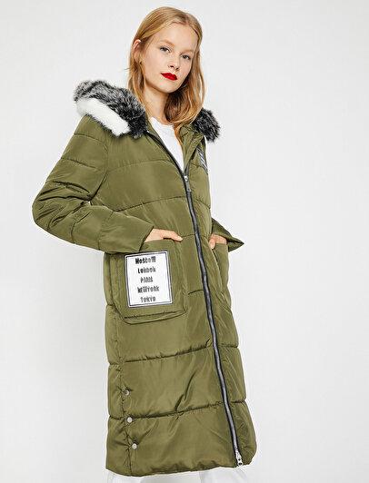 Faux Fur Detailed Puffer Coat