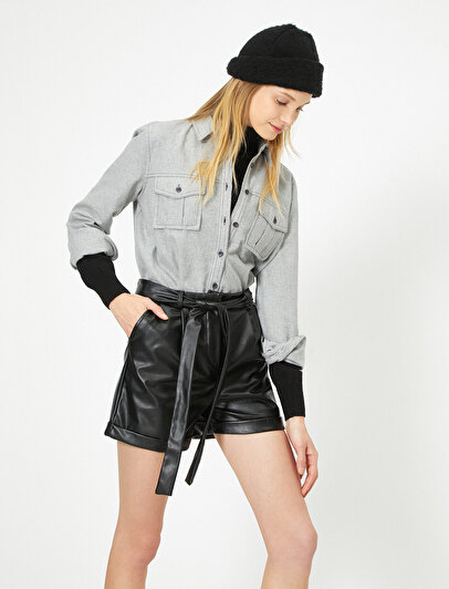 Leather Look Short
