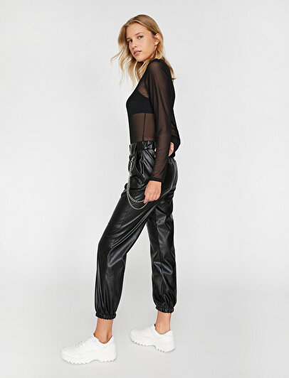 Leather Lokk Trousers