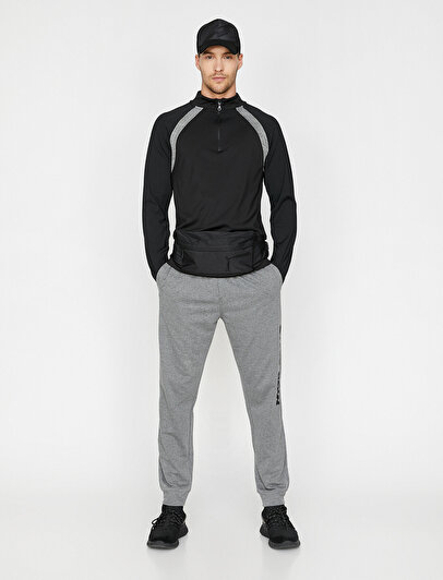 Zipper Detailed Sweatshirt
