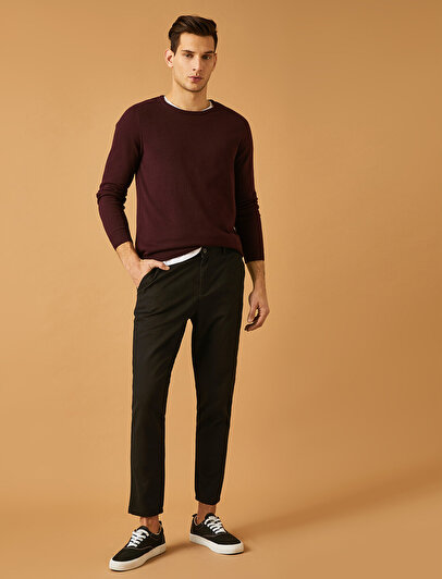 Cep Detaylı Rahat Kesim Pantolon