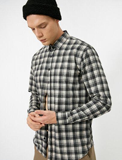 Ekoseli Uzun Kollu Regular Fit Oduncu Gömleği