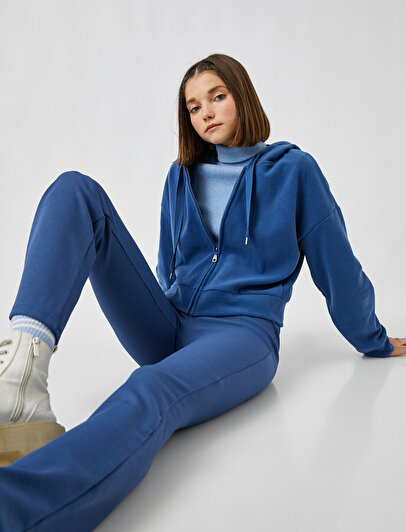 Zipper Hoodie Pocket Sweatshirt