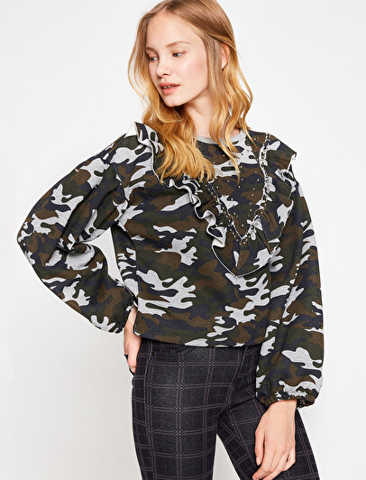 Camuflage Patterned Sweatshirt