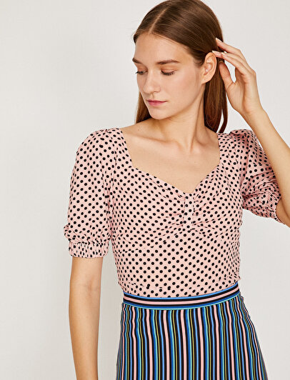 Dotted Detailed Blouse