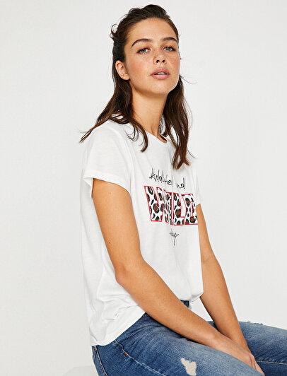 Letter Patterned T-Shirt
