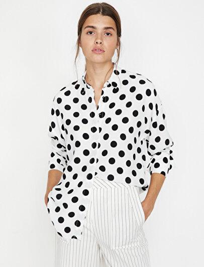 Puantiye Detaylı Gömlek