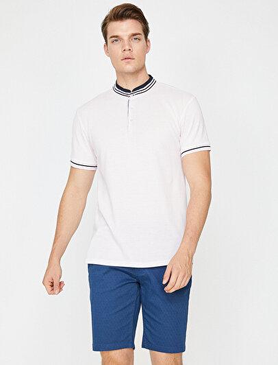Mandarin Collar Polo T-Shirt