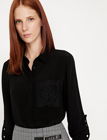 Dantel Detaylı Bluz