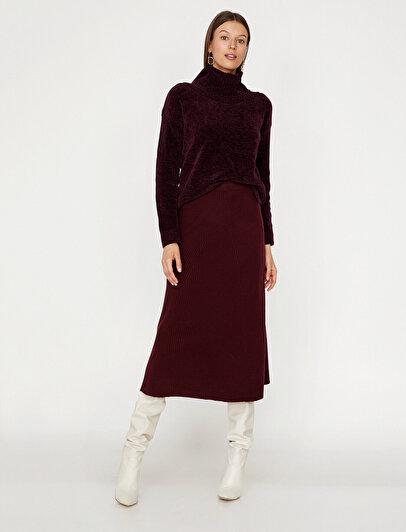 Medium Rise Knitwear Skirt