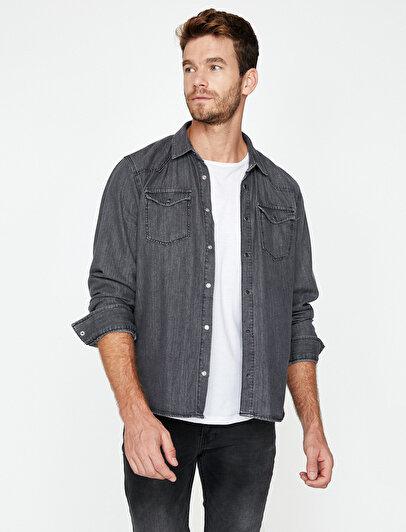 Klasik Yaka Jean Gömlek