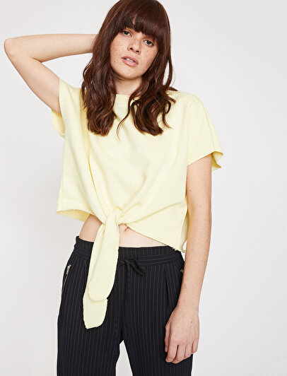 Tie Detailed T-Shirt