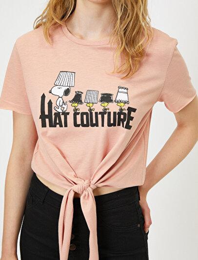Snoopy Lisanslı Baskılı T-Shirt