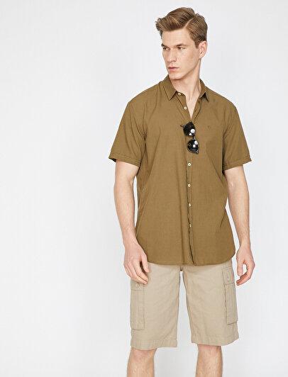 Slim Fit Kısa Kollu Casual Gömlek