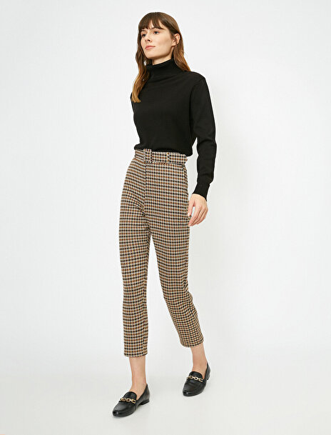 Koton Kadın Kemer Detayli Pantolon
