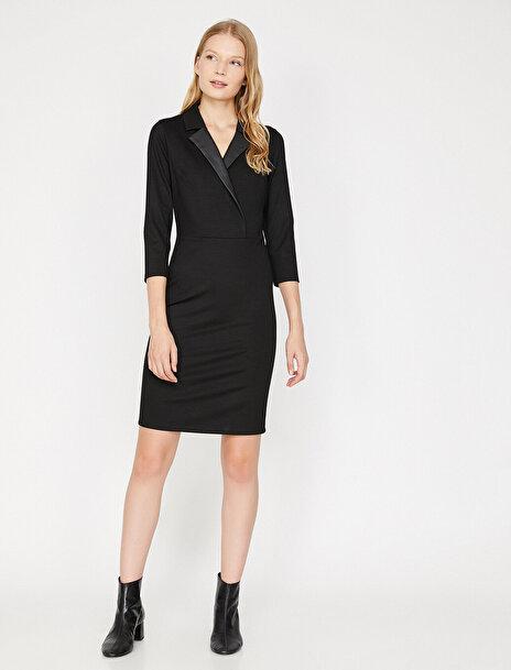 Koton Kadın V Yaka Elbise