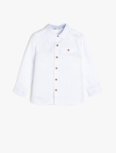 Erkek Çocuk Cep Detayli Gömlek