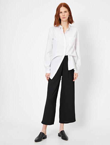 Koton Kadın Cep Detayli Genis Paça Pantolon