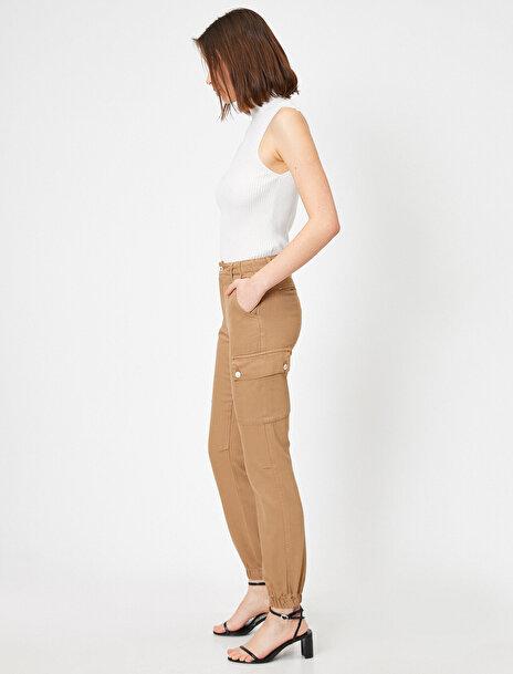 Koton Kadın Cep Detayli Kargo Pantolon
