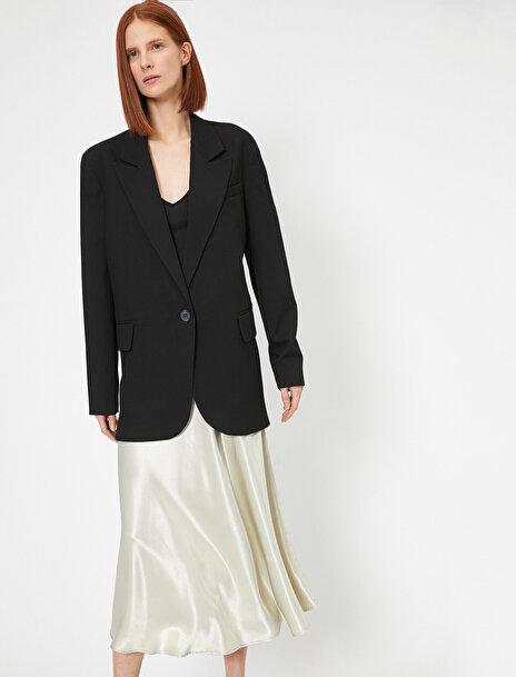Koton Kadın Tek Dügme Oversize Blazer Ceket